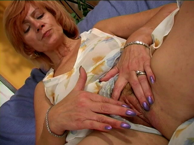 Ultra-kinky Grandmother In Mini Sundress Chick Pawing Her Assets With Eagerness